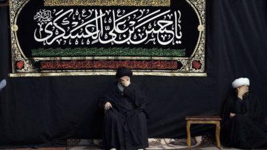 صورة إحياء ذكرى استشهاد الإمام الحسن العسكري عليه السلام في بيت المرجع الشيرازي بقم المقدسة