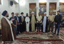 صورة وفد من متظاهري كربلاء المقدسة يستنكر الاعتداء على مشروع المخيم الحسيني