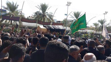 صورة بالصور .. مراسيم تشييع جثمان الخطيب السيد جاسم الطويرجاوي في منطقة ما بين الحرمين الشريفين في كربلاء المقدسة