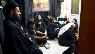 صورة اختتام مجالس العزاء الحسيني لشهر صفر في بيت نجل المرجع الشيرازي في الكويت