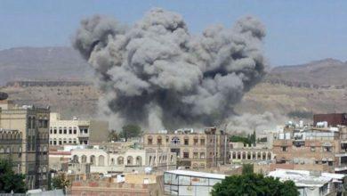 صورة استشهاد وإصابة خمسة يمنيين إثر قصف سعودي على صعدة