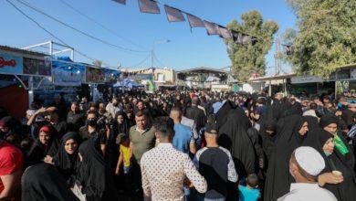 صورة تواصل التوافد إلى مرقد الإمامين العسكريين عليهما السلام في سامراء (صور)