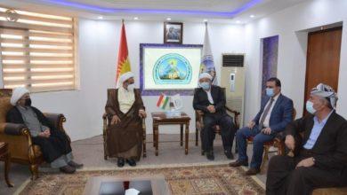 صورة وفد من مكتب المرجع الشيرازي يحل ضيفاً على كردستان العراق حاملاً دعوات التعايش السلمي