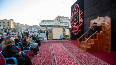 صورة تنظيمُ مجلسٍ عزائيّ لإحياء ذكرى استشهاد الإمام الحسن العسكريّ عليه السلام في كربلاء المقدسة