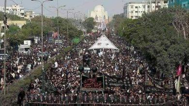 صورة مئات الآلاف من الباكستانيين يحتشدون لإحياء ذكرى الأربعين الحسيني الخالد (صور)