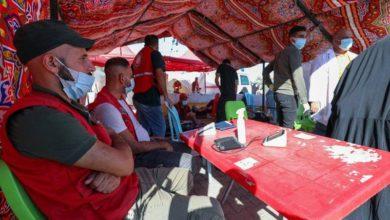 صورة الهلال الأحمر العراقي يشارك في خدمة زوار الإمام الحسن العسكري عليه السلام في سامراء