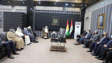 صورة وفد مكتب المرجع الشيرازي يواصل جولته في كردستان ويلتقي العديد من الشخصيات السياسية والدينية والاجتماعية