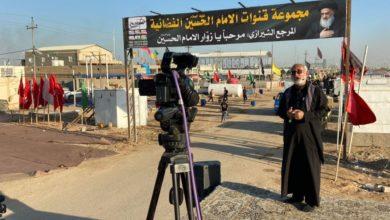 صورة مجموعة الإمام الحسين عليه السلام الإعلامية تواصل تغطيتها لمراسيم زيارة الأربعين