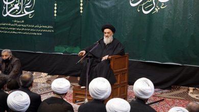 صورة المرجع الشيرازي يوصي بالمواظبة على النشاط الحسيني على مدار أيام العام