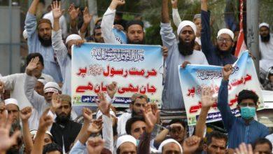 صورة بالصور.. مسلمو العالم يستمرون بتنظيم احتجاجاتهم المناهضة لفرنسا ورفض الإساءة لمقام النبي الأكرم
