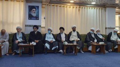 صورة انعقاد المجلس الحسيني الأسبوعي لمكتب المرجع الشيرازي في النجف الأشرف