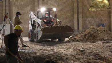 صورة العتبة الكاظمية تعلن نسبة الإنجاز في البنى التحتية لمشروع صحن باب المراد