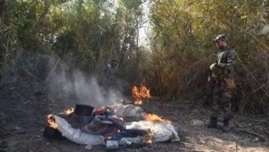 صورة تدمير مضافتين لداعش الإرهابي شمال سامراء