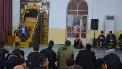 صورة مزار سلمان المحمدي رضوان الله عليه يستقبل الليالي الفاطمة بإقامة المجلس الحسيني الأسبوعي