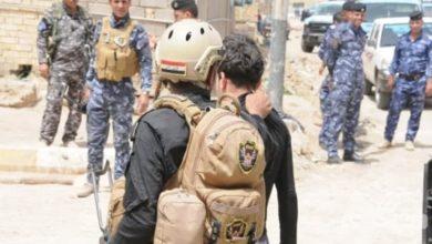 صورة القبض على أحد الإرهابيين في سامراء