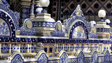 صورة مسجد يمثل تحفة معماریة رائعة في إندونيسيا (صور)
