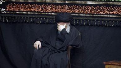 صورة اختتام مجالس العزاء الفاطمي في بيت المرجع الشيرازي بقم المقدسة