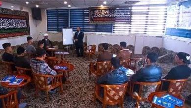 صورة إقامة ورش عقائدية وتنموية وصحفية ضمن فعاليات مخيم إشراقة الشبابي في كربلاء المقدسة
