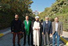 صورة وفد من مجموعة الإمام الحسين عليه السلام الإعلامية يزور جامعة أهل البيت عليهم السلام في كربلاء المقدسة