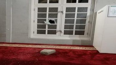 صورة اعتداء على مسجد في أمستردام