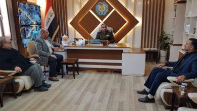 صورة وفد من مجموعة الإمام الحسين عليه السلام الإعلامية يزور مدير الإقامة في وزارة الداخلية