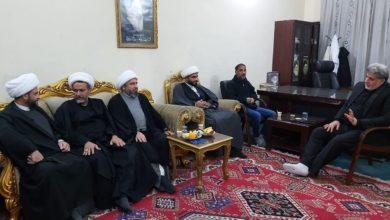 صورة وفد علمائي يثمن جهود السيد عارف نصر الله في فتح الحرم الكاظمي أمام الزوار