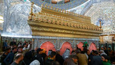 صورة بالصور.. أجواء الحزن تعمّ الحرم العلوي تخليدا لذكرى وفاة السيدة أم البنين عليها السلام
