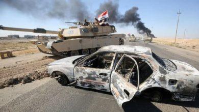 صورة استشهاد 3 مدنيين عراقيين بهجوم إر.ها.بي على عجلتهم غربي الأنبار