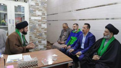 صورة مؤسسة العلوية شريفة عليها السلام في بغداد تستقبل وفداً من الشخصيات الدينية والاجتماعية