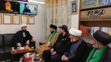 صورة مجموعة الإمام الحسين عليه السلام الإعلامية تستقبل وفداً من طلبة العلوم الدينية