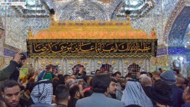 صورة المحبون والموالون يحيون ذكرى وفاة القاسم ابن الإمام الكاظم (عليهما السلام)