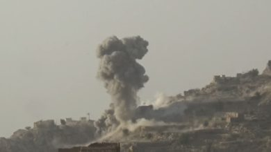 صورة غارات للتحالف السعودي على محافظتين يمنيتين تخلف أضراراً بممتلكات المواطنين