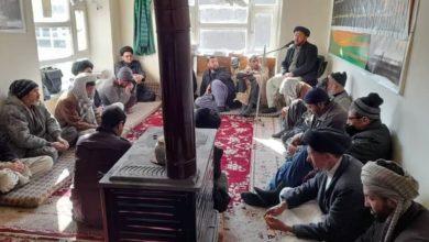 صورة إحياء الأيّام الفاطمية في مكتب المرجع الشيرازي في مدينة باميان الأفغانية