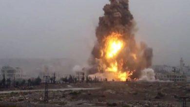صورة استشهاد آمر الفوج الخامس ومساعده في لواء أئمة البقيع عليهم السلام بانفجار في ديالى