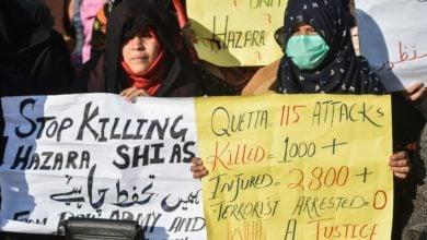 صورة لليوم الخامس على التوالي .. اعتصام مستمر احتجاجاً على اغتيال أطفال شيعة في باكستان