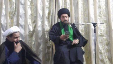 صورة مؤسسة العلوية شريفة في بغداد تقيم مجلس عزاء بوفاة السيدة أُمّ البنين عليهما السلام