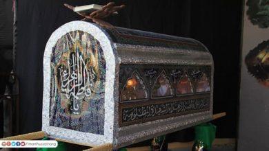 صورة مرجع ديني: اختفاء قبر السيدة الزهراء عليها السلام من الآيات البينات