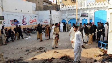"""صورة شيعة باكستان يحيون الذكرى السنوية لشهداء مسجد """"كربلاء المعلّى"""""""