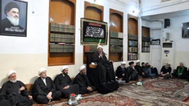 صورة مكتب المرجع الشيرازي في كربلاء المقدسة يقيم مجلس عزاء الإمام الهادي عليه السلام