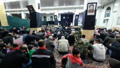 صورة حسينية الحوزة العلمية الزينبية في سوريا تحيي ذكرى شهادة الإمام الهادي عليه السلام