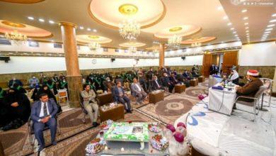 صورة حافظات القرآن الكريم في العتبة العلوية يحصلن على الإجازة الدولية الأولى