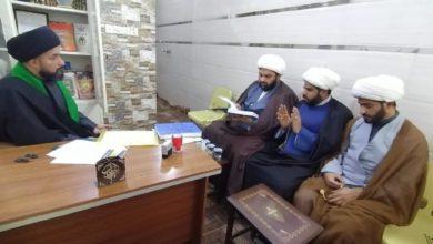 صورة وفد مؤسسة أهل البيت عليهم السلام من البصرة يزور مجموعة من المؤسسات المرجعية في بغداد