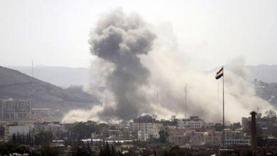 صورة استشهاد طفلة يمنية وإصابة اثنتين في مديرية نهم في العاصمة صنعاء