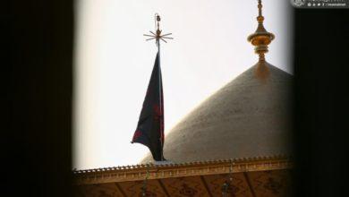 صورة بالصور.. الحزن يخيم على مرقد أمير المؤمنين بذكرى شهادة العقيلة زينب عليهما السلام