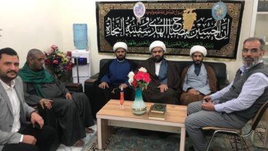 صورة وفد مؤسسة أهل البيت عليهم السلام البصرة يواصل جولته بين بغداد وسامراء
