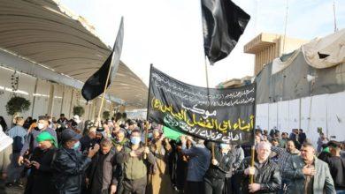 صورة مشاركة أكثر من 400 موكب في إحياء استشهاد الإمام الهادي عليه السلام في سامراء (صور)