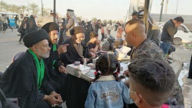 صورة مركز أهل البيت ومؤسسة العلوية شريفة يبادران بتقديم الخدمات الثقافية لزائري الإمام الكاظم عليه السلام