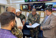 صورة مدير مجموعة الإمام الحسين (عليه السلام) الإعلامية يستقبل قائد الفرقة الثالثة بسرايا السلام