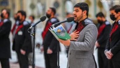 صورة بالصور.. خدمة أمير المؤمنين يستذكرون شهادة العقيلة زينب عليهما السلام خلال الزيارة الصباحية