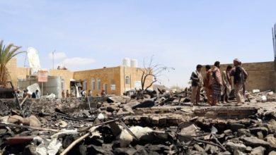 صورة استشهاد وإصابة خمسة يمنيين بصعدة